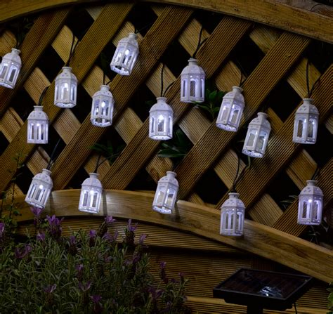 solar powered moroccan lantern string lights 16 leds