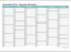 Calendario 2019 para imprimir iCalendarionet