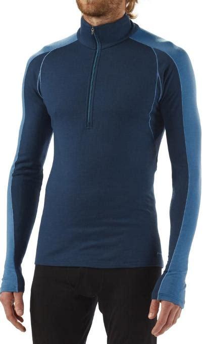 patagonia merino  midweight zip neck shirt wool mens