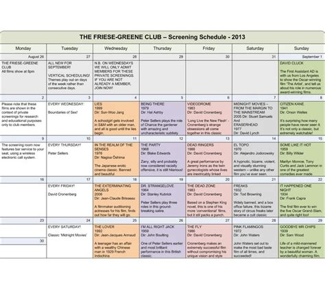 documentary film production schedule template google