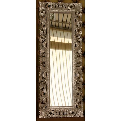 specchi con cornice in legno specchio argento in legno intarsiato