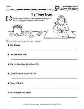 topics building  paragraph writing  topic