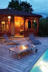 Brasero De Terrasse : table basse brasero contemporain terrasse en bois ~ Premium-room.com Idées de Décoration