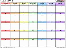 March 2018 Printable Calendar monthly printable calendar