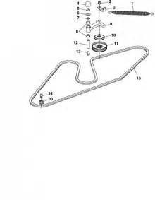 diagram to install belt on deere 54 quot deck mower