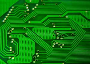 Diagram Of Pcb Board Stock Photo