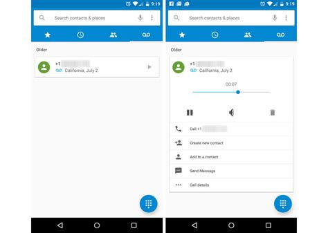 how to delete voicemail on android android m feature voicemail tab in dialer app listen to