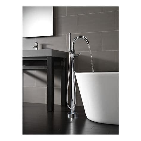 t4759 fl contemporary floor mount tub filler trim