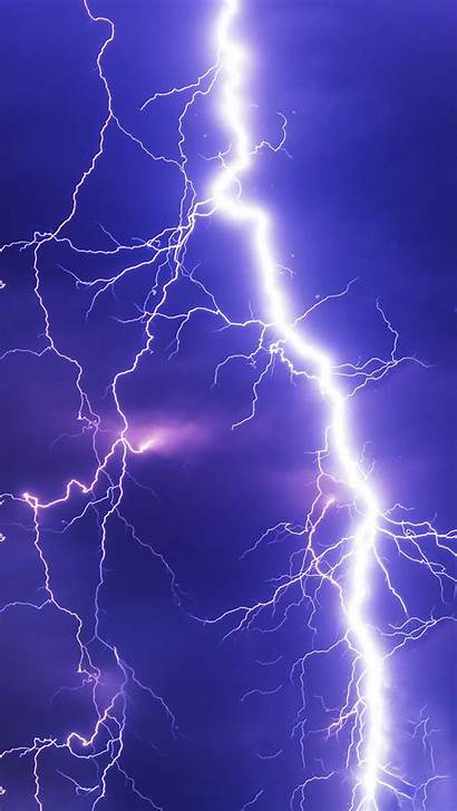 Lightning Thunderstorm Sky Cloudy Thunder Iphone Wallpapers