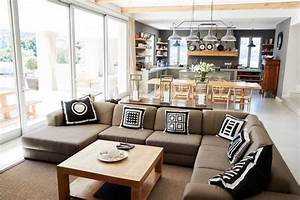 Open, Kitchen, Designs, With, Living, Room
