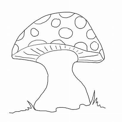 Mushroom Toadstool Template Colouring Coloring Mewarnai Gambar