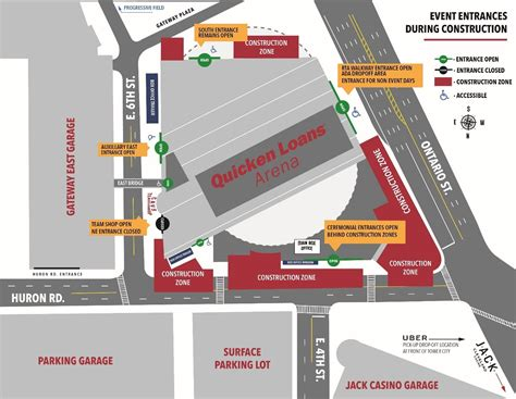 east garage quicken loans arena quicken loans arena construction update q104