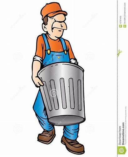 Garbage Clipart Collector Trash Trashman Pick Throw