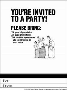 funny party invitations theruntimecom With free printable funny wedding invitations
