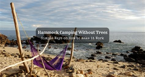 hammock camping  trees simple ways