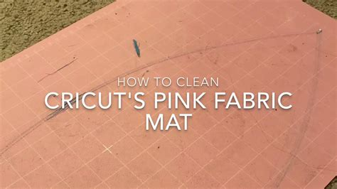 how to clean mat how to clean cricut pink fabric mat