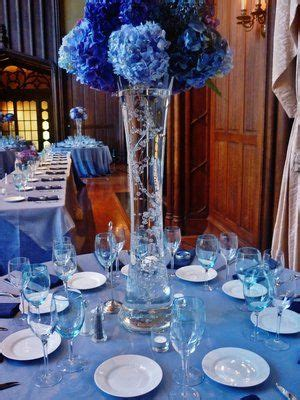 shades of blue wedding kohl mansion in 2019 blue wedding decorations blue centerpieces