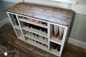 DIY Shoe Storage Cabinet - Shanty 2 Chic