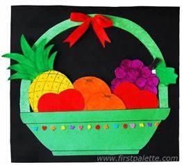 Fruit Basket Craft Kids Crafts