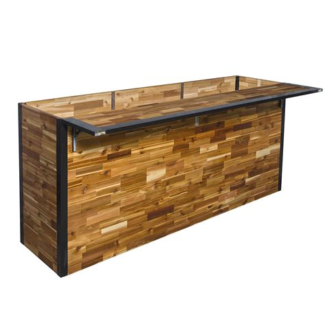 wooden garden products plant a bar wooden outdoor bar and planter the green head