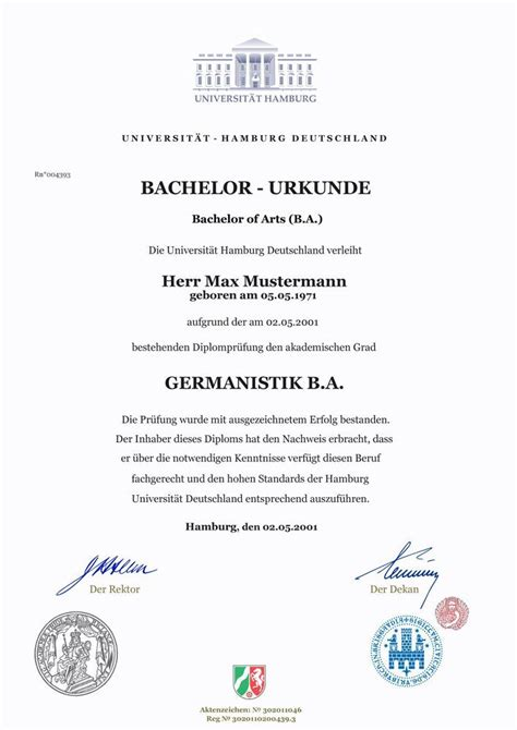 uni universitaet hamburg bachelor  arts ba