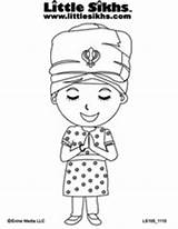Sikh Colouring Coloring Pages Sheets Bodh Gurbani Sikhs Reserved Rights Copyright Little Gurbaani Tv Kaur Website sketch template