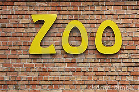 zoo sign stock image image