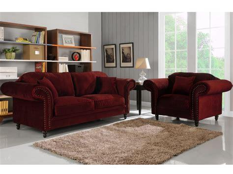 canapé velours design canapé et fauteuil 100 velours 3 coloris elisabeth