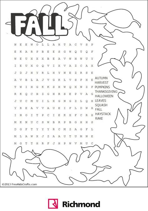 best 25 fall word search ideas on