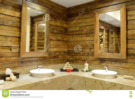 Rustic Bathroom Interior Stock Image Image Of Washroom