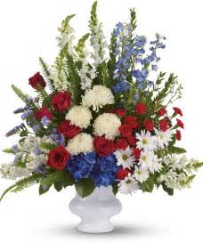 sympathy gift baskets free shipping patriotic funeral flowers patriotic funeral flower