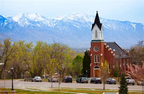 le funeral home in lake city white memorial chapel during day salt lake city stock