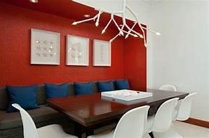 decoration salle a manger elegante en rouge With salle a manger rouge