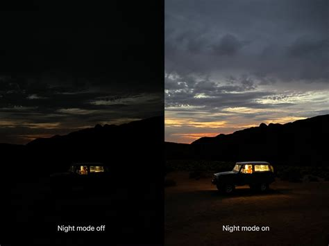iphone pro features triple lens night mode
