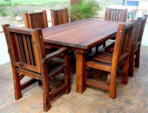 Wooden patio table wooden patio furniture home furniture for Wooden furniture designs for home
