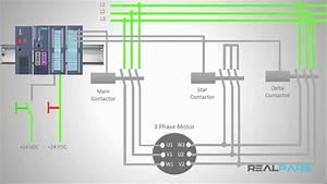 Star-delta Starter Plc Program And Wiring
