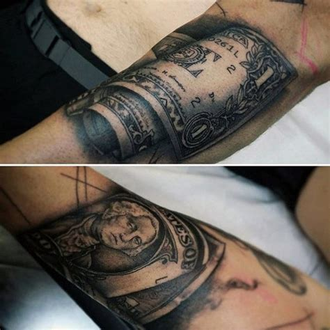 money tattoos  men wealth  masculine design ideas