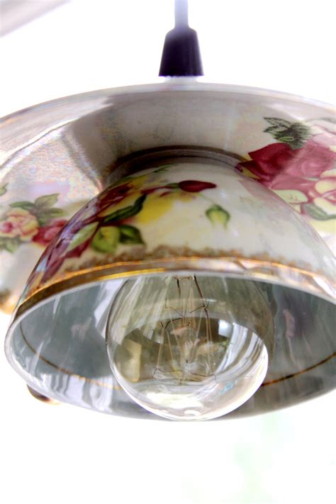 diy l shades diy how to make your own teacup pendant lights