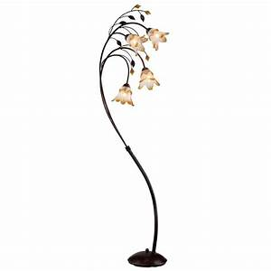 Ok lighting 74 in bronze windance floral floor lamp ok for Floor lamp in home depot