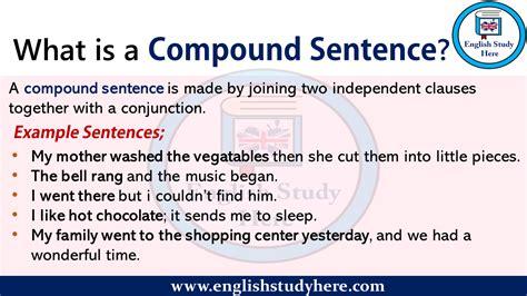 compound sentence english study