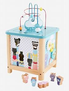 Cube En Bois Bébé : grand cube d 39 activit s en bois multicolor vertbaudet ~ Melissatoandfro.com Idées de Décoration