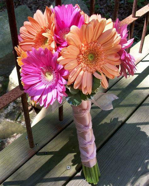 Eddilisas Blog Gerber Daisy Bridal Bouquet