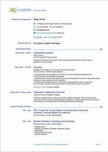 Europass Curriculum Vitae Writing Tips