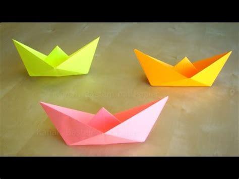 papierschiff falten basteln mit kindern leichtes