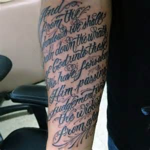 Bible Verse Tattoos On Forearm for Men