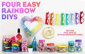 4 Easy Rainbow DIYs! Karen Kavett