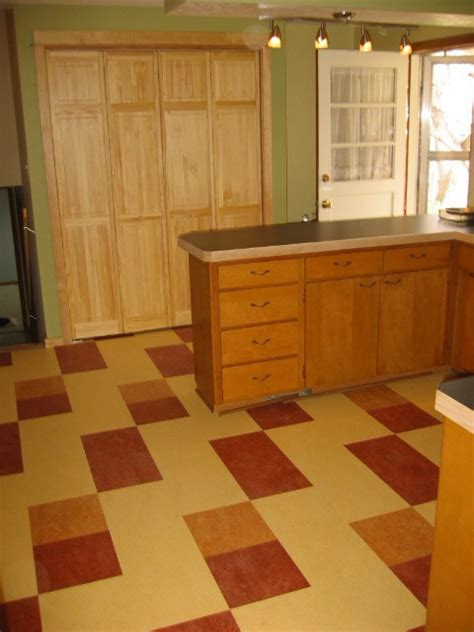 forbo marmoleum click natural linoleum flooring rustic kitchen chicago