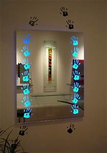 Coiffeuse Avec Led : miroir avec d cor sabl clairage leds macocco verres doubles ~ Teatrodelosmanantiales.com Idées de Décoration