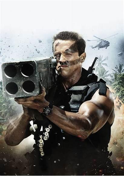 Commando Poster Fanart Abyss Filmes Anos Movies