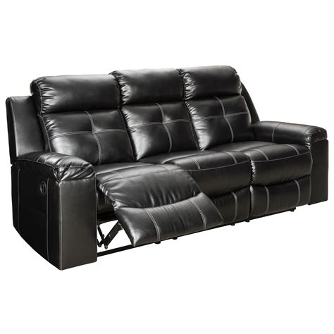 High Back Reclining Sofa by Signature Design By Kempten Contemporary Reclining